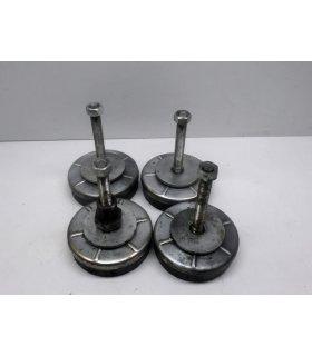 Lot de 4 patins réglables pour machines outils