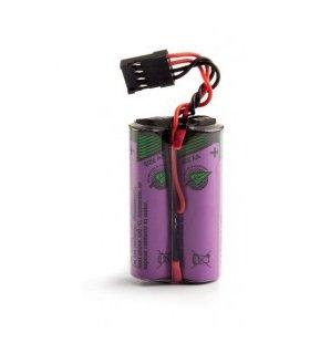 Pile NUM pack lithium 3.6v 2.4AH T1/2/SG/Fils 50 mm + HE13 1/2+ 3/4- pour NUM serie 1020 1040 1060