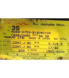 FANUC A06B-0753-B190 0100 ac spindle motor